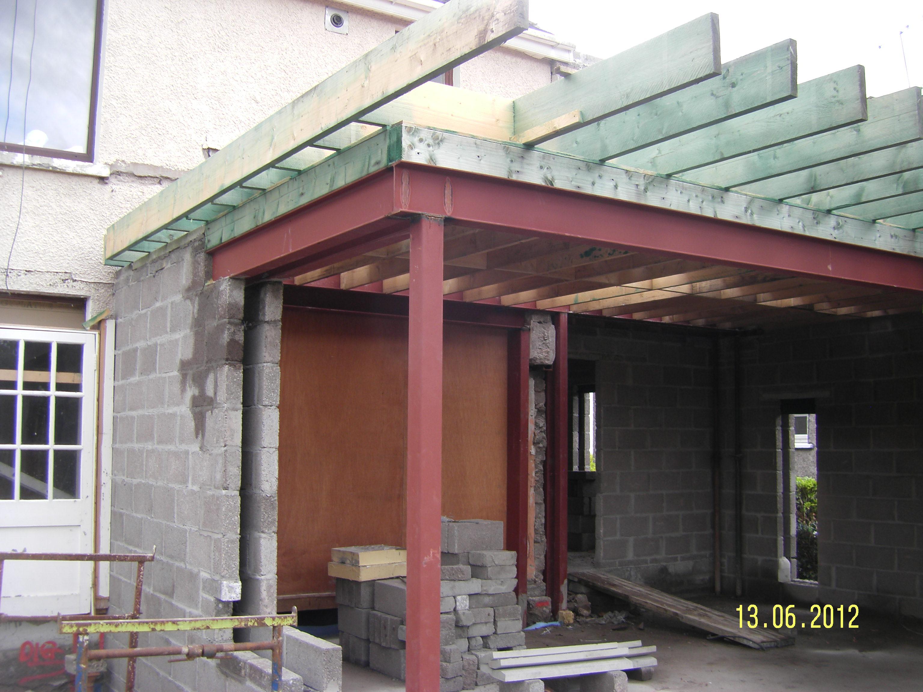 flat roof extension at browningstown park ryan. Black Bedroom Furniture Sets. Home Design Ideas