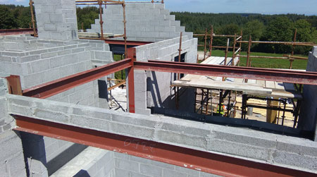 blockwork & steel detail construction support